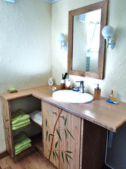 Atelier jv bois fabrication et pose d un meuble en - Parquet en bambou ...